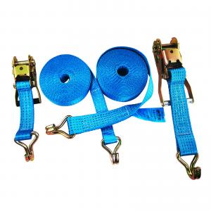 China 5000KG Capacity Polyester Yarn 10m Ratchet Tie Down Strap on sale