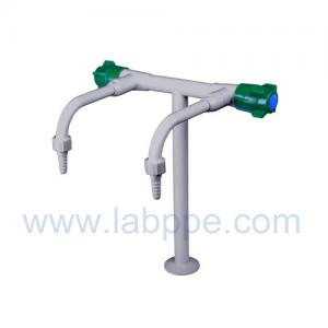 Quality SHA25-2-Double Outlet/Way Lab Tap,brass,360 Swing,2 way lab tap,two way lab faucet for sale