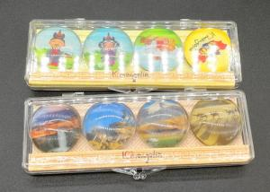 China OEM / ODM Round Photo Magnets Crystal Glass Material With Plastic Box on sale