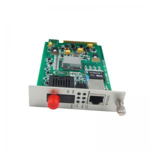 China Card Type Fiber Optic Media Converter , Ethernet To Fiber Optic Converter on sale