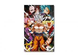 China PET Lenticular Flip 3D Lenticular Triple Transition Dragon Ball Goku Anime Poster For Wall Art Poster on sale