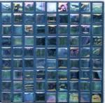 Смешивание цвета радужной плитки плавательного бассеина голубое