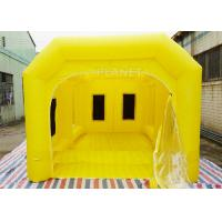 6 M Yellow Inflatable Spray Booth / Automotive Paint Booths Two Air System