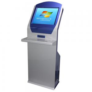 China Floor Stand Interactive Touch Screen Kiosk 19 Inch For Bank / Hotel / Lobby on sale