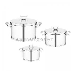 China 20 22 24cm sauce pot with 16 18cm milk pot 10pcs set for kitchenware on sale