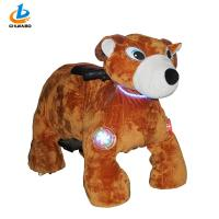Commercial Arcade Kiddie Rides Large Plush Toy Shape Motorized Animal Scooters
