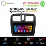 Ownice Android 9.0 Stereo for Renault Duster/Logan 2009 2010 2011 2012 2013 4G LTE