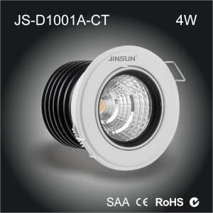 China recessed led down lights 1 inch 4w adjustable led downlight ceiling light 110v on sale