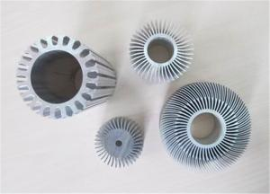 China Clear Anodizing Hollow Aluminum Sun Flower Extrusion Sink Agricultural on sale