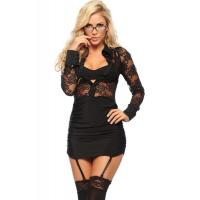 China Naughty Executive Lady Halloween Adult Costumes , Black Sexy Adult Princess Costume on sale