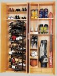 Armazenamento de cremalheiras de gerencio da sapata do armário do ABS & do aço, cremalheira revolvendo empilhável moderna da sapata