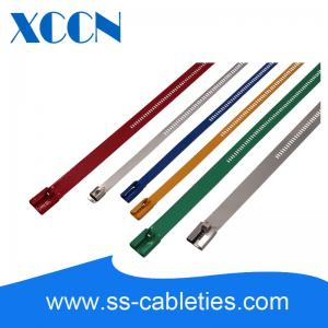 China Electrical Ladder Type Stainless Steel Cable Ties Straps Neutral Salt Spray Tested on sale