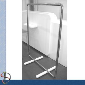 China Commercial Metal Clothing Display Rack For Store Garments Shining Surface on sale
