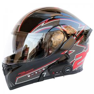 China Bluetooth Motorcycle helmet unisex double lens open face motorcycle helmet for sale 16 color 4 size on sale