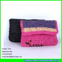 LUDA wholesale paper straw summer purses and handbags