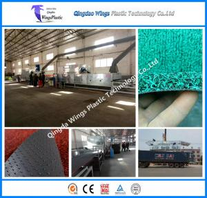 China Ce & ISO PVC Coil Cushion Floor Mat Manufacturing Machine PVC Coil Mat Extrusion Machine on sale