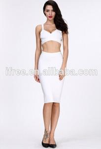 China white two piece sexy bandage dress nov 11 shopping carnival on sale