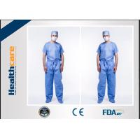Anti Dust Disposable Scrub Suits Hospital Jacket For Men With Custom Logo Printing
