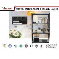 China Durable Black Boltless Rivet Shelving Retail 600*300*1520 , Metal Racks For Storage on sale