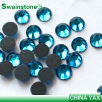 China T0811 Good quality aquamarine ss10 hot fix rhinestone,dmc hot fix rhinestone,girl hot fix rhinestone wholesaler on sale