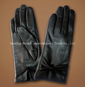 China 2014 new fashion ladies sheep/goat leather gloves on sale
