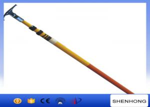 China 220KV High Voltage Earthing Device Fiberglass Telescopic Hot Stick High Strength on sale