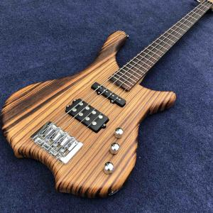 China 2020 New 4 Strings Buzzard Natural Color Top Neck Through Bass Guitar on sale