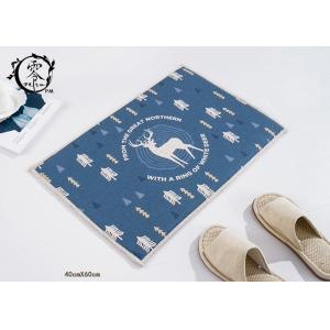 China Anti Slip Rubber Kitchen Floor Mats , Christmas Deer Pattern Washable Durable Door Mat on sale