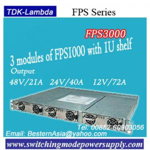 China TDK-Lambda Power Supply Single output 3000W FPS3000 3 modules of FPS1000 with 1U shelf on sale