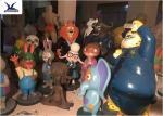 Amusement Park Equipment Lovely Fiberglass Life Size Artificial Cartoon Statues
