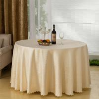 Jacquard Pattern Wedding Linen Tablecloths / Table Sashes And Chair Covers