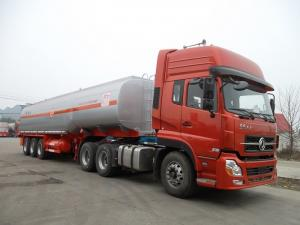 China 45000 Liters 3 Axle Fuel Delivery Truck Trailer Tri-axle Carbon Steel Oil Tank on sale