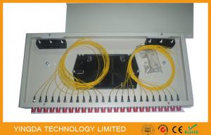 China FC Rack Mount Single Mode Fiber Optic Patch Panel 24 Port  , ODF Patch Panel White Metal on sale