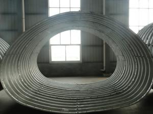China Horseshoe shape corrugated steel pipe on sale