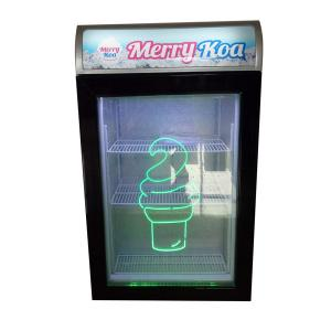 China 98L Glass Door Upright Mini hotel Bar Display Freezer,small refrigerator showcase SD98 with lightbox on sale
