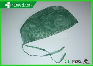 China Olive Green Nonwoven Doctors Disposable Surgical Caps For Hospital / Operation Room on sale