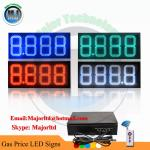 12 Inch High Brightness Outdoor Remote Control 888.8 White  Canopy LED Gas Price signs
