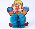 Supermarket home stereo paper sculpture, creative color handmade paper honeycomb, clown pattern origami, customizable