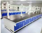 Wooden / Stainless Steel Lab Tables Work Benches Traditional Design With Roomy Storage