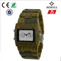 Luxury Men Wooden Watches With White Dial And Stainless Steel Crown