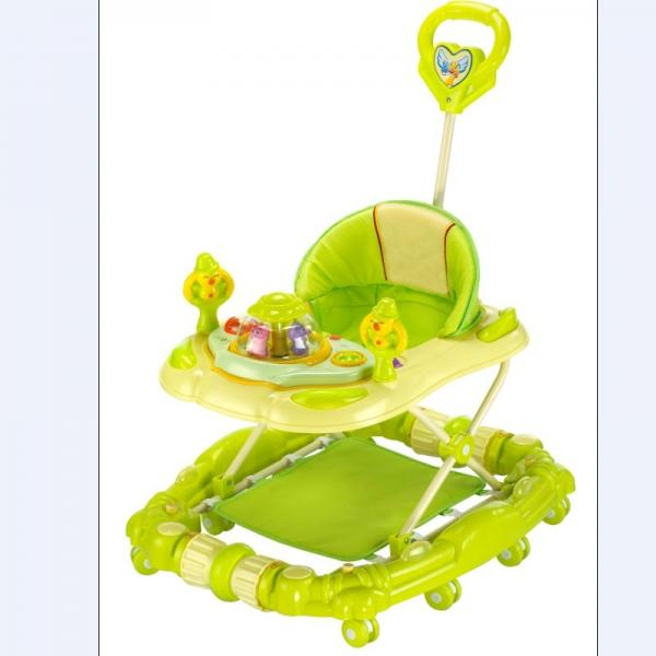 adjust modern baby girl walker 6 wheel plastic baby walker with