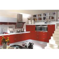 Wooden MDF House Kitchen Furniture / Custom Wall Unit Cabinet