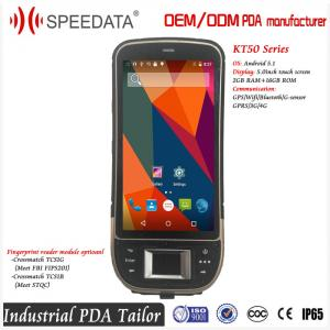 China Industrial Android PDA Wifi Pocketable Device Honeywell or Symbol Barcode Scanner and Fingerprint Reader on sale