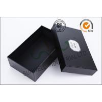 Black Luxurious Leather Belt Corrugated Packaging Boxes Custom Logo Printed