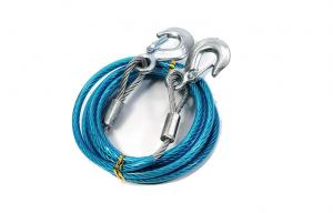 China Blue Plastic Coated Steel Towing Rope Auto Emergency Tool Kits on sale