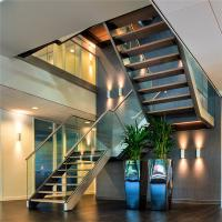 Prima Stainless Steel u Channel Glass Stair Railing