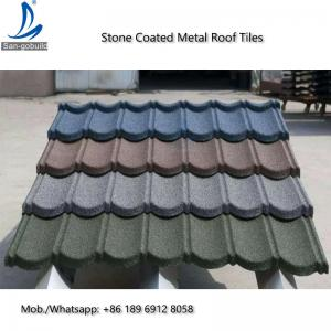 Metal Roofing Sheets Stone Coated Terracotta Red Coating Steel Roof Tile Prices For Sale Bond Stone Coated Metal Roof Tiles Manufacturer From China 108127952