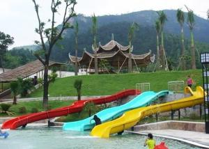 China Customized Family Water Slide , Eco - Friendly Interactive Small Water Slide on sale