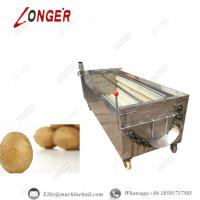 Brush Roller Potato Washing Machine|Automatic Brush Roller Potato Washing Machine|Brush Roller Cleaning Machine