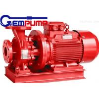 ISW Horizontal Pipe Inline Water Booster Pump Red Color 10~125 m Head